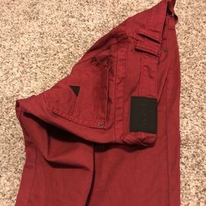 GUESS red Denim Jean Shorts Men's size 34